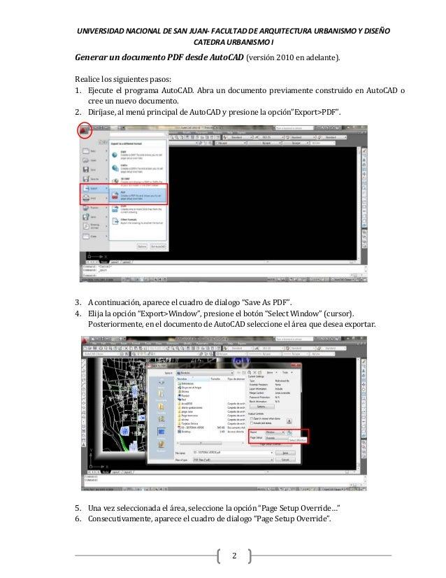 Generación de archivos pdf desde autocad faud-unsj Slide 2