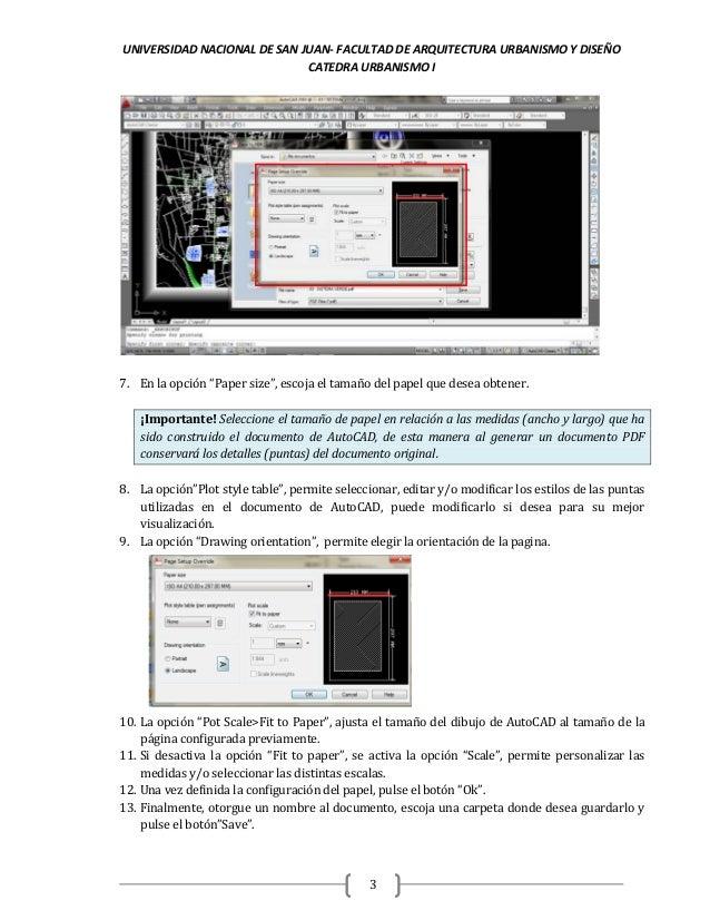 Generación de archivos pdf desde autocad faud-unsj Slide 3