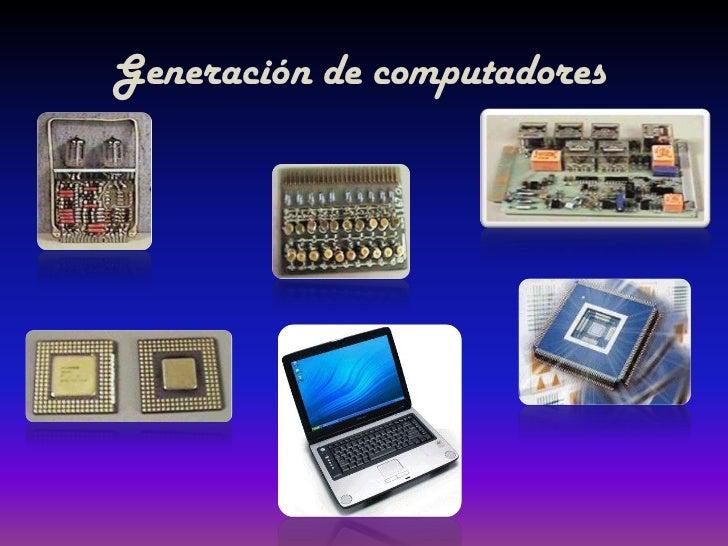 Generación de computadores<br />