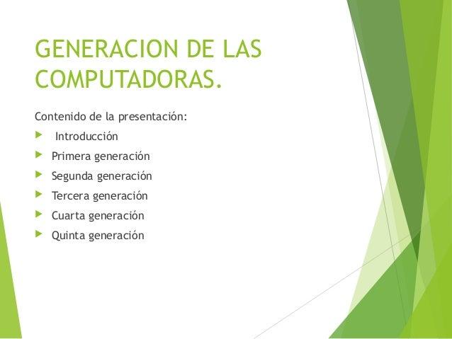 Generacion de las computadoras Slide 2