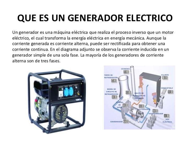 Generador electrico - Generador de corriente ...