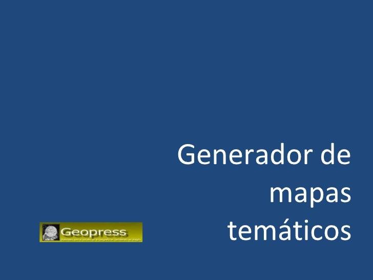 Generador de mapas temáticos