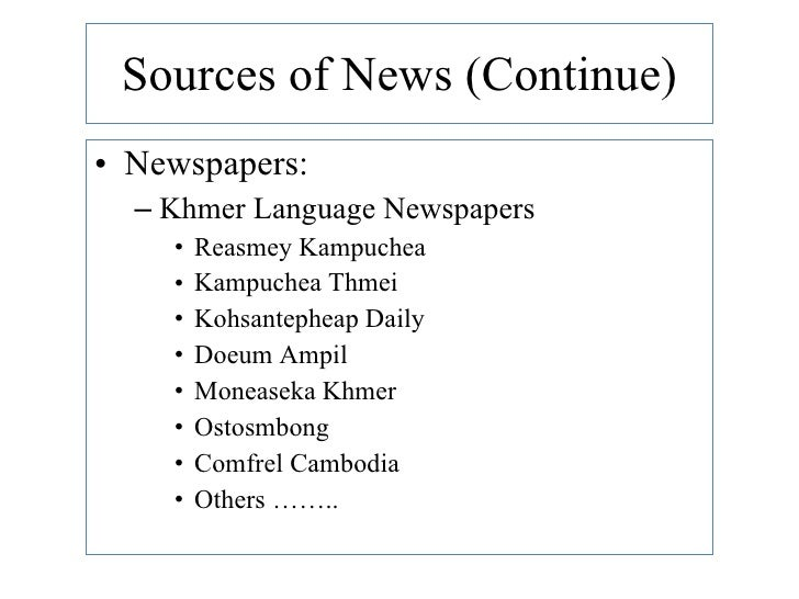 Learning Khmer Language and Its Social Issues Via Mass Medias