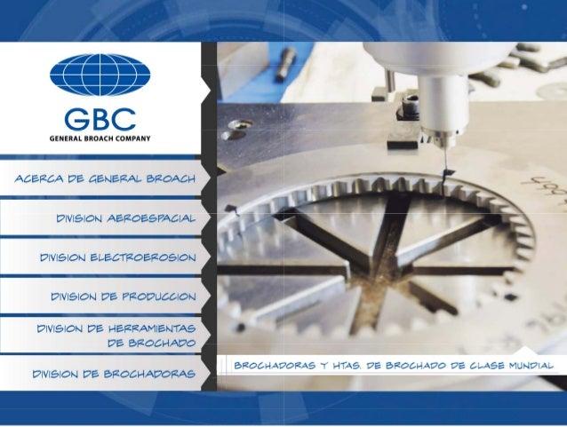 GBC - General Broach Sales Brochure (Spanish)