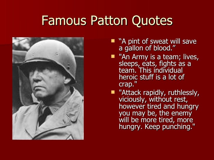analysis of general pattons speech made Transactional leadership is based on a simple exchange between the leader and the followers of reward for applied effort.