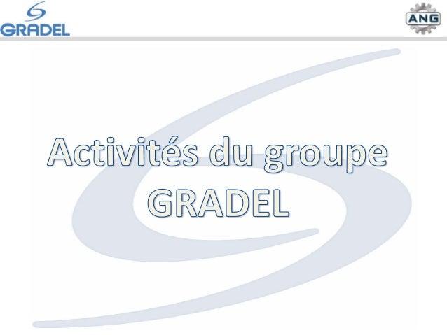 Personnel : 138 salariés Chiffre d'affaires 2014: 15 M€ Gradel Services SA ANG sàrl ANGD Sàrl Gradel Sàrl