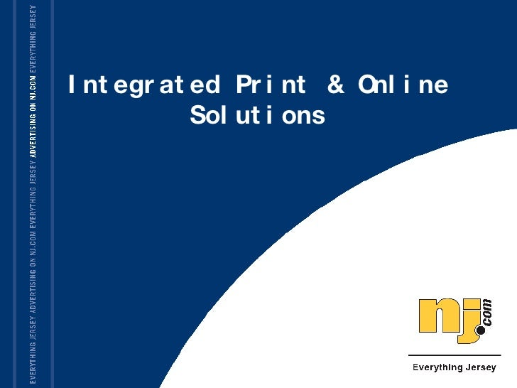 Integrated Print & Online Solutions