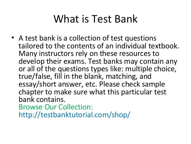 testbanktutorial com introduction test bank solution manual buy rh slideshare net Bank Reconciliation Nuclear Radiation Manual
