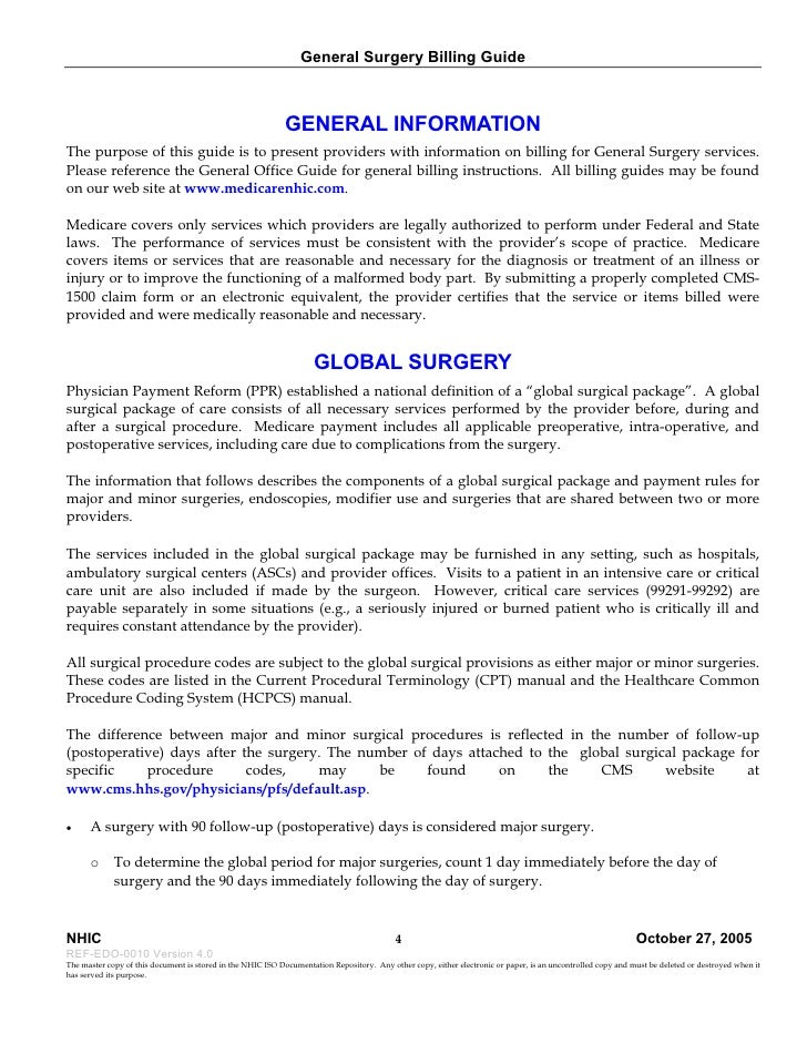 General Surgery Billing Guide