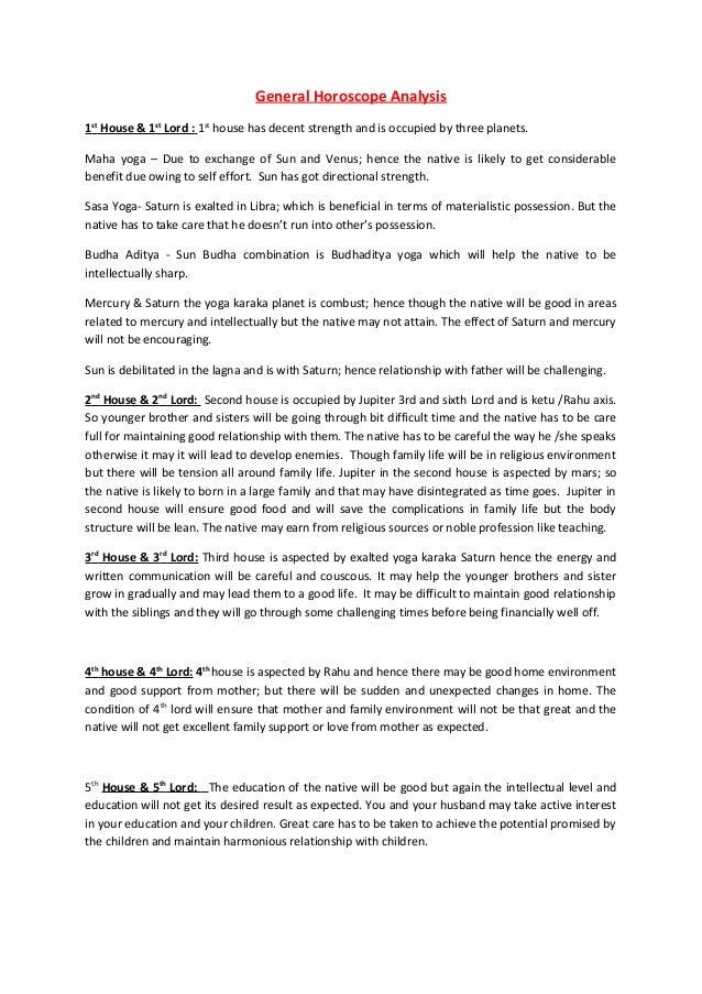 Natal chart- Basic Analysis