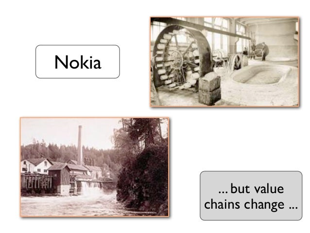 Nokia          ... but value        chains change ...
