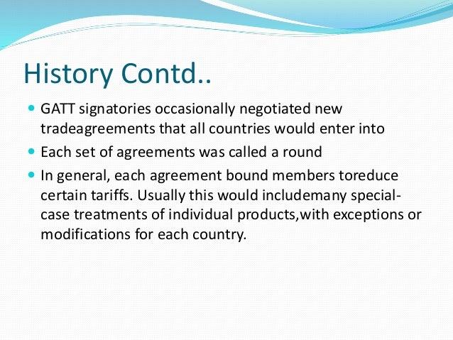 General agreement on tariffs and trade gatt platinumwayz