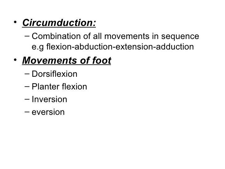 Define circumduction in anatomy