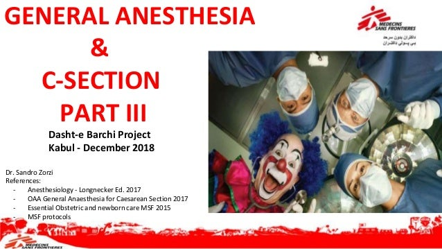 General anesthesia & obstetrics part III