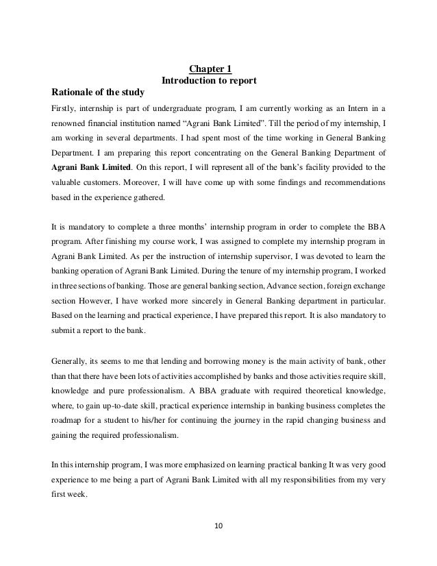internship report on customer relationship in agrani bank ltd bd Credit risk management and performance evaluation of southeast bank limited internship report  bank ltd (rupnagar) in my internship  customer relationship.