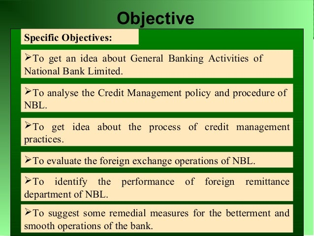 bank credit management The goal of credit risk management is to maximise a bank's risk-adjusted rate of return by maintaining credit risk exposure within acceptable parameters banks need to manage the credit risk inherent in the entire portfolio as well as the risk in individual credits or transactions.