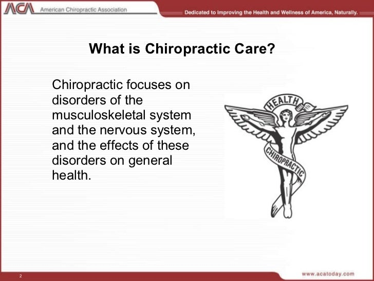 an introduction to the chiropractic care • care for your customers • give fair and equal treatment to all • be understanding of people with special needs mention we'll talk about special needs later 6.