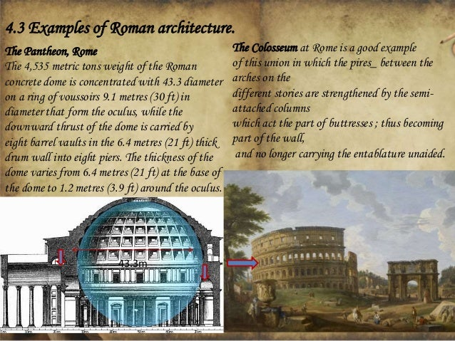 Roman Architecture Domes general classification of arches and roofing systems ( domes & vaults…