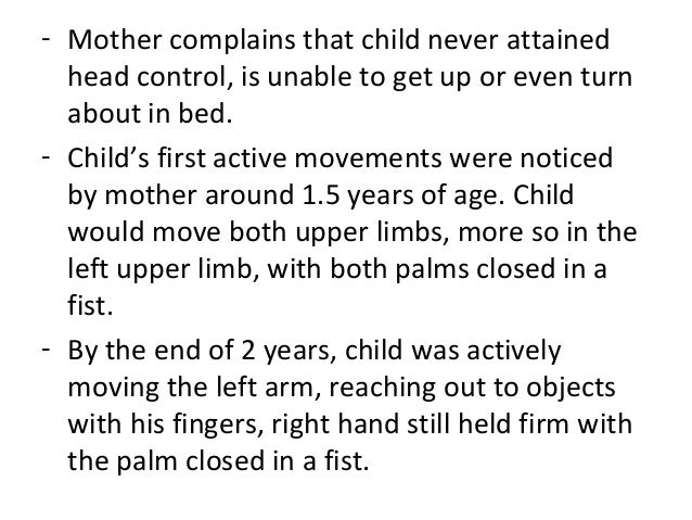 cerebral palsy case study Stationary cycling and children with cerebral palsy: case reports for two participants  los angeles at the time this study was conducted  case reports provide .