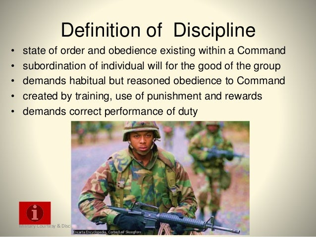 standards and discipline in the army essayons