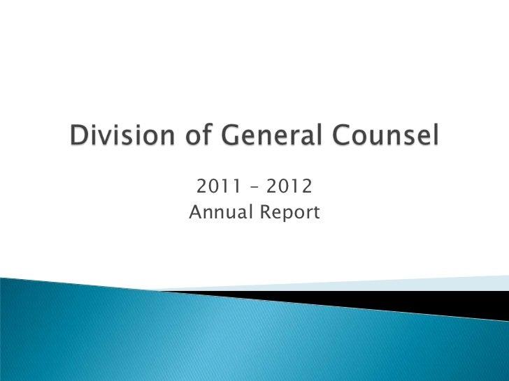 2011 – 2012Annual Report