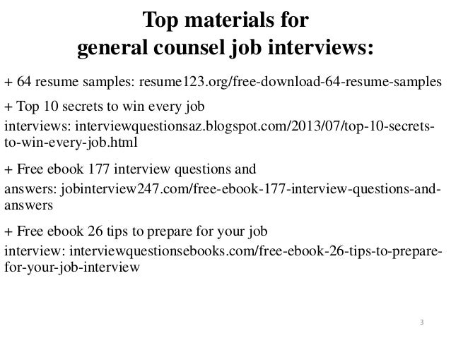 2 3 Top Materials For General Counsel