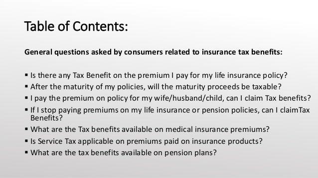 Life Insurance & Disability Insurance Proceeds   Internal ...