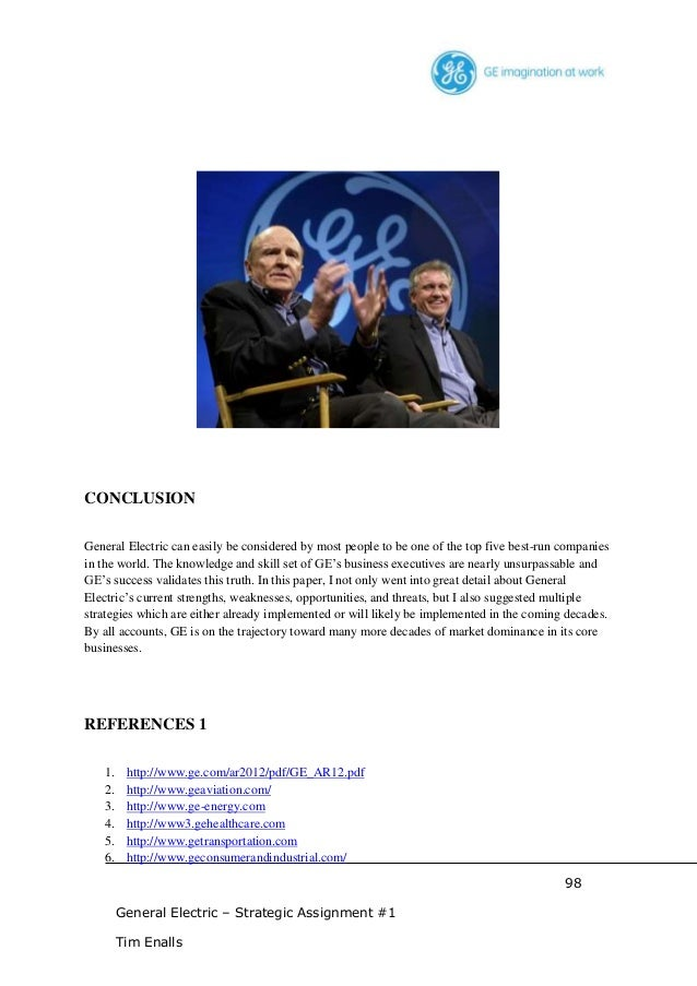 general electric strategic position 1981 Describes the introduction and evolution of general electric's strategic planning  system from the 1960s to jack welch's tenure allows discussion of the interplay .