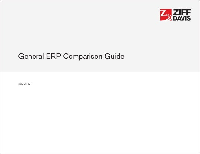 general erp comparison guide ® ®general erp comparison guidejuly 2012 ® ®general erp comparison guidejuly 2012.