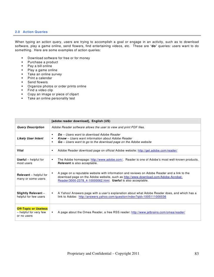 General guidelines 2011