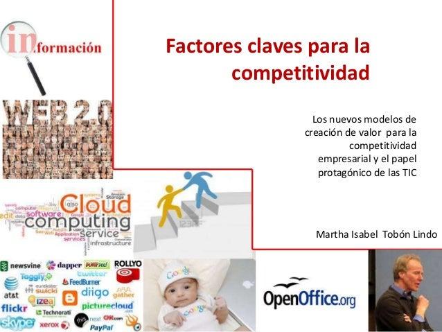Factores claves para la       competitividad                 Los nuevos modelos de               creación de valor para la...