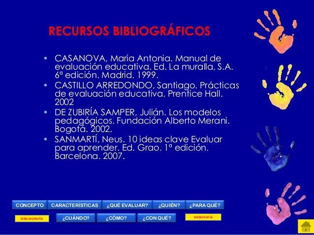 Manual de evaluaci n educativa - Mar a Antonia Casanova - Google Libros