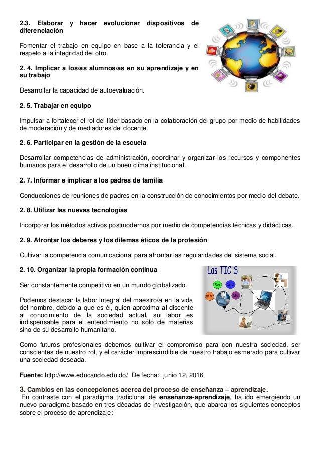 2.3. Elaborar y hacer evolucionar dispositivos de diferenciación Fomentar el trabajo en equipo en base a la tolerancia y e...