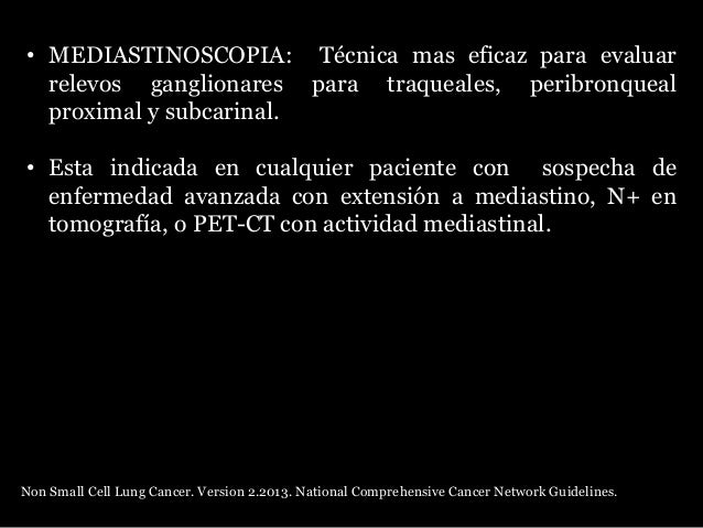 Tratamiento quirúrgico • Mejor oportunidad de ceración en estadios I, II y IIIA • EC II evaluar quimioterapia adyuvante • ...