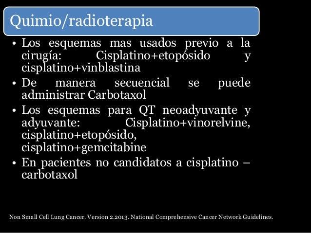 Pronostico con base al estadio •Cáncer de pulmón no microcítico: supervivencia total a los 5 años por la agrupación en est...