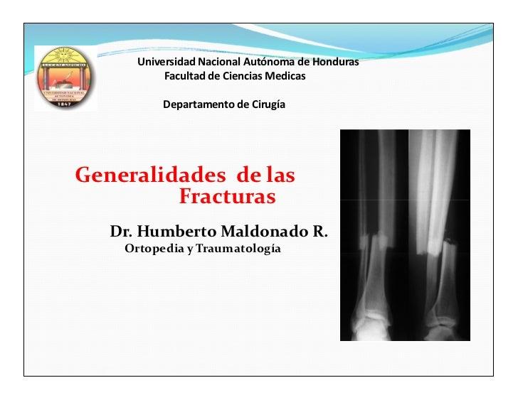 Universidad Nacional Autónoma de Honduras           Facultad de Ciencias Medicas          Departamento de CirugíaGeneralid...