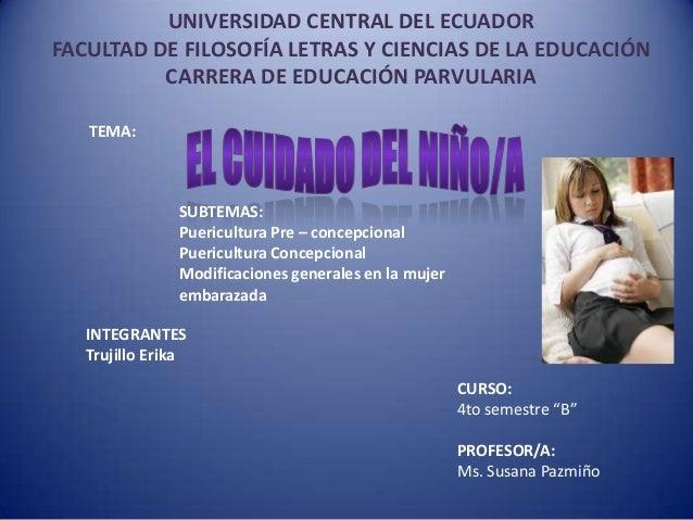 UNIVERSIDAD CENTRAL DEL ECUADOR FACULTAD DE FILOSOFÍA LETRAS Y CIENCIAS DE LA EDUCACIÓN CARRERA DE EDUCACIÓN PARVULARIA TE...