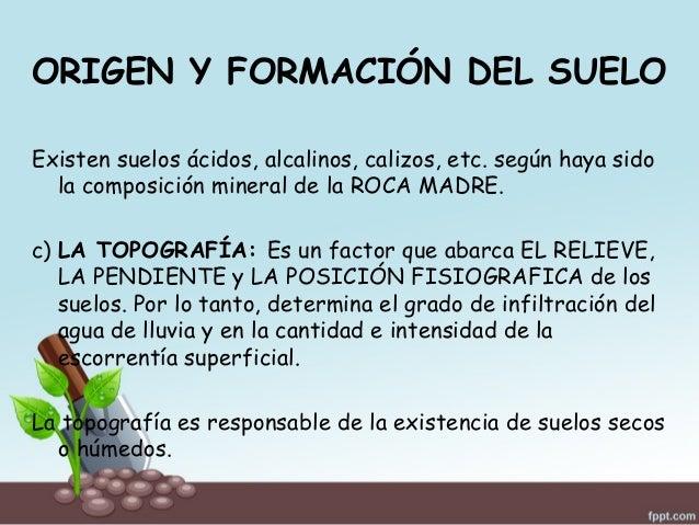 Generalidades del suelo agr cola for Formacion de la roca