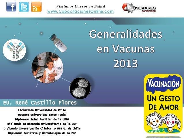 EU. René Castillo FloresLicenciado Universidad de ChileDocente Universidad Santo TomásDiplomado Salud Familiar de la UFROD...