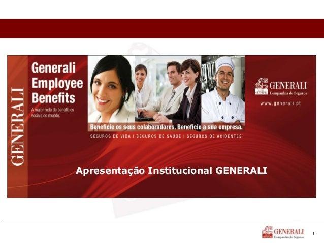 Apresentação Institucional GENERALI                                      1