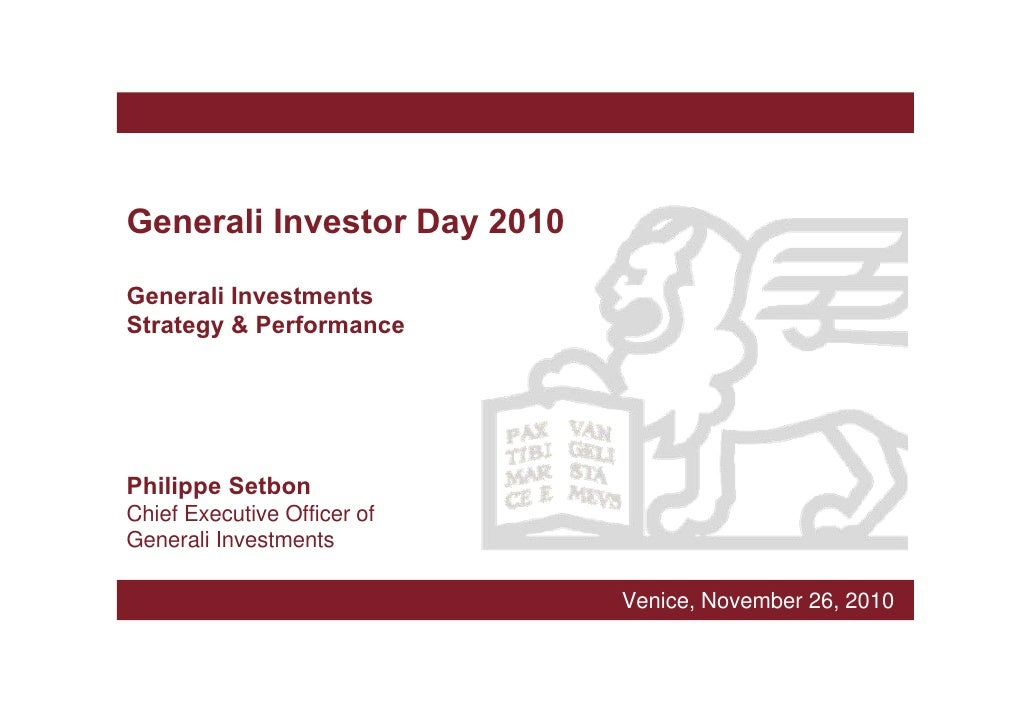 Generali Investments Strategy & Performance