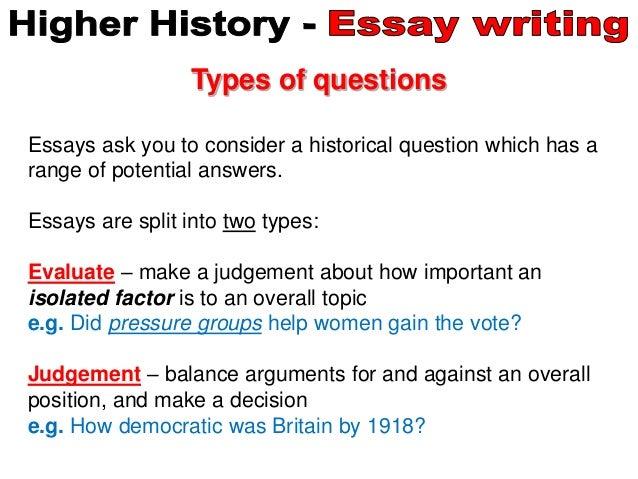 higher history 22 mark essay