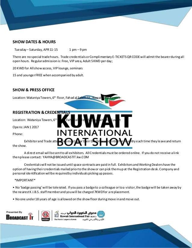 General information oF the Kuwait international Boat show kibs-kw