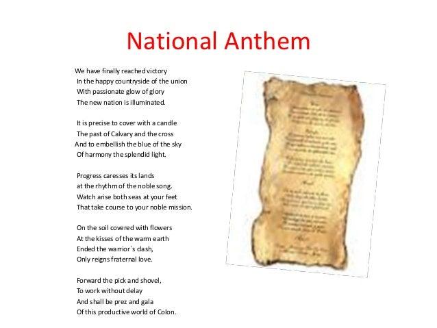 panama national anthem s