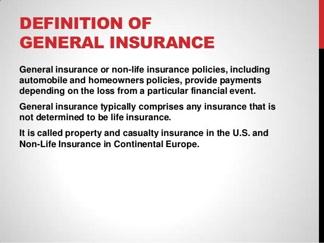Image result for what is general insurance definition
