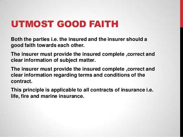 A HISTORY OF THE DUTY OF UTMOST GOOD FAITH