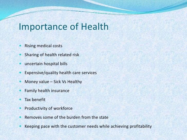 The importance of healthcare