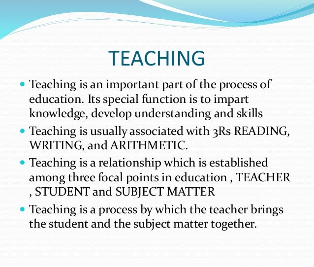 an introduction to education as a process of learning Learn about the education, practical steps, and experience you'll need to become  a teacher  a rigorous peer-reviewed certification process that includes  submission of videos of their teaching and  introduction to curriculum  development.