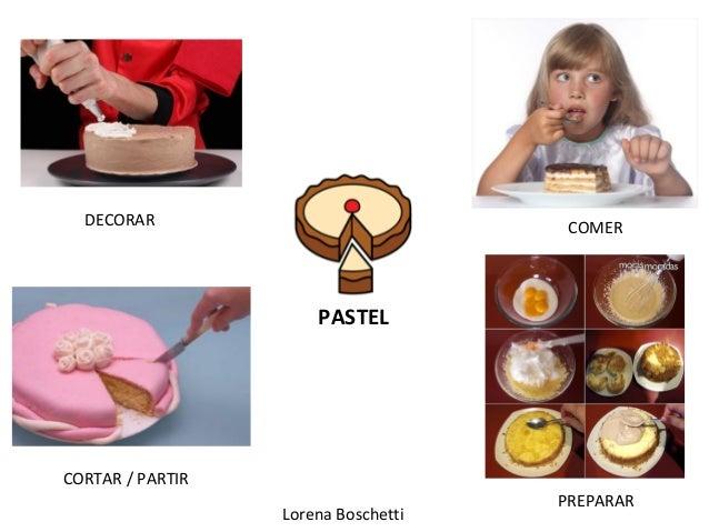 Lorena Boschetti PASTEL DECORAR COMER CORTAR / PARTIR PREPARAR