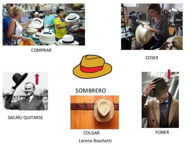 Lorena Boschetti SOMBRERO SACAR/ QUITARSE COSER COLGAR PONER COMPRAR